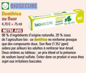 dentifrice biosecure